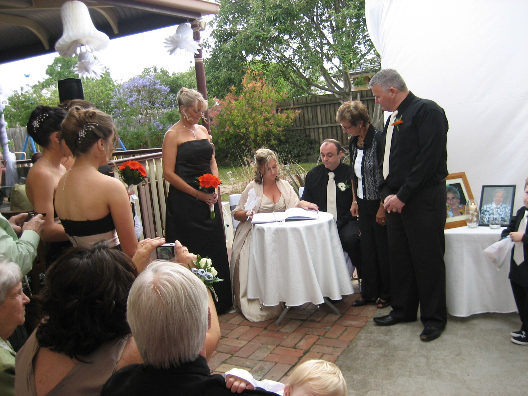 We were so pleased you were referred to us as our Celebrant.