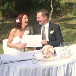 We want to thank you for the wonderful Ceremony you did! You made our day so special