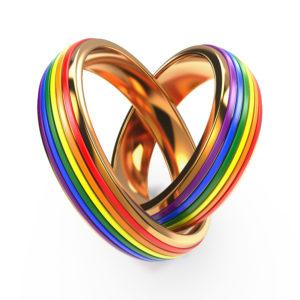 Wedding Rings with Gay Symbols